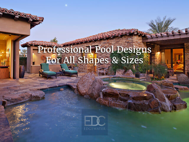 Custom Pool Design In Phoenix Edgewater Design Co - Swimming-pool-designing