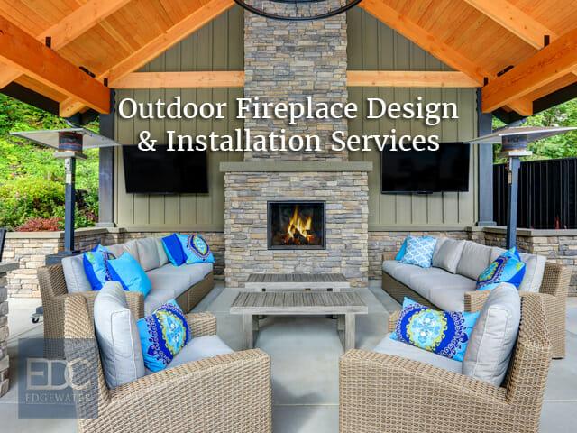 Outdoor Fireplace Designs In Phoenix Edgewater Design Co